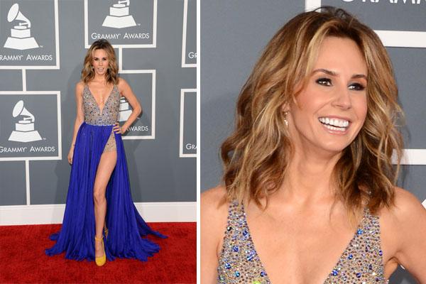 Maquillaje para vestido azul con dorado